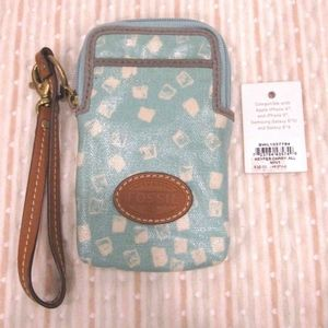 Fossil mini phone wristlet Key Per collection